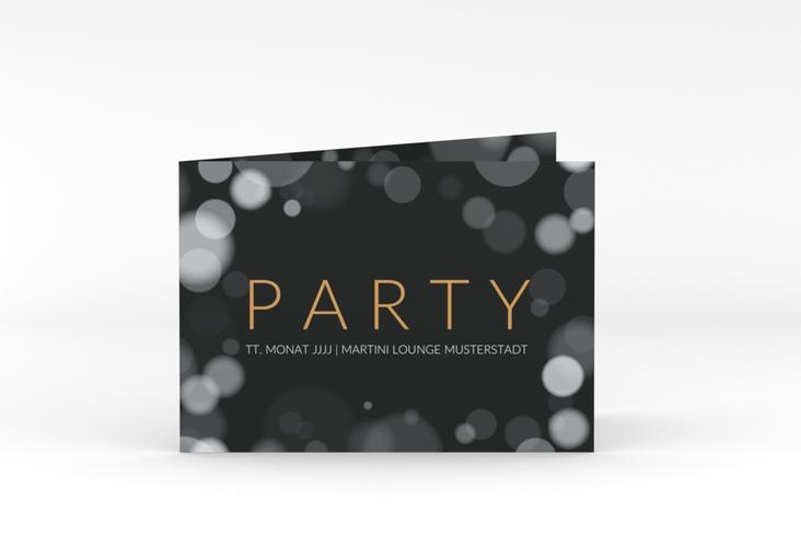 """Partyeinladung """"Gloss"""" A6 Klappkarte Quer"""