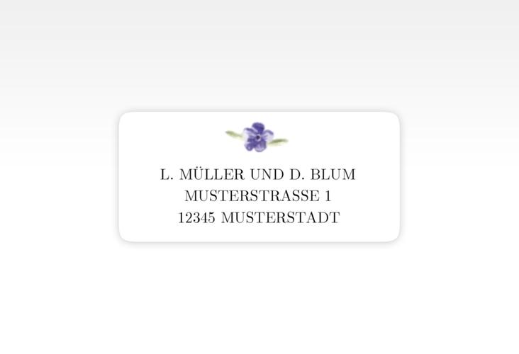 """Absenderetikett Hochzeit """"Lavendel"""" 45,7 x 21,2 mm"""