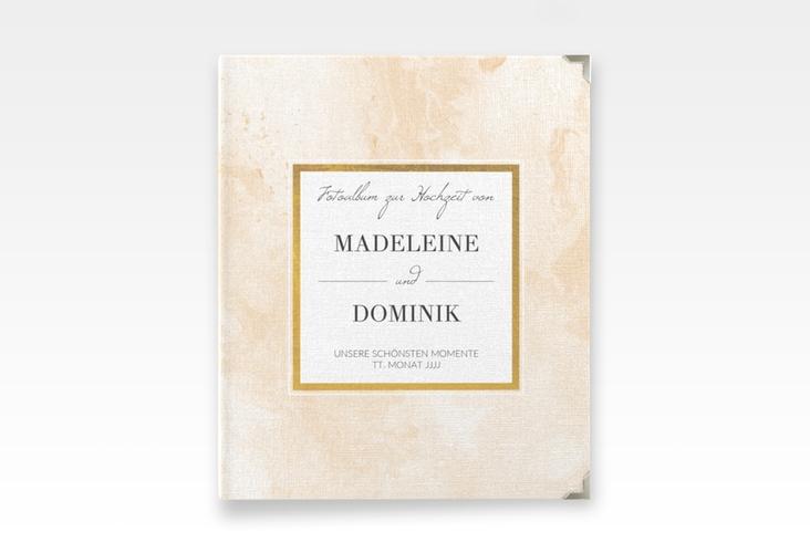 """Hochzeitsalbum """"Marble"""" 21 x 25 cm beige"""