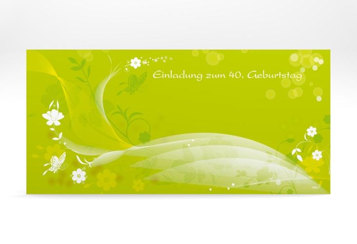 """Einladungskarte """"Claudia"""" DIN lang"""