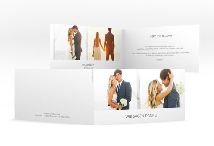 "Danksagungskarte Hochzeit ""Vista"" DIN lang Klappkarte"