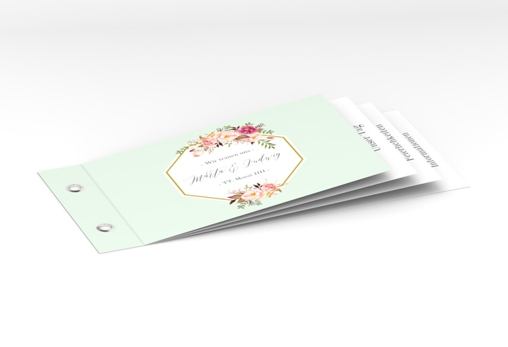 """Hochzeitseinladung """"Prachtvoll"""" Booklet mint"""