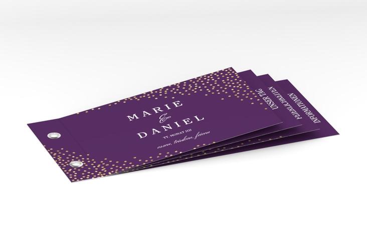 """Hochzeitseinladung """"Glitter"""" Booklet lila"""