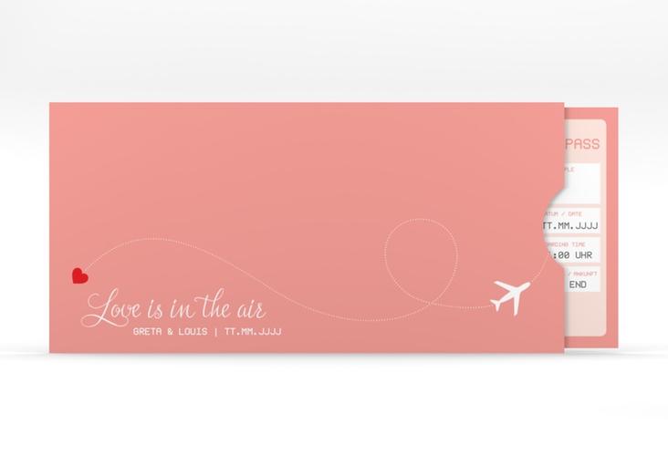 """Hochzeitseinladung """"Weddingpass"""" Einsteckkarte rosa"""