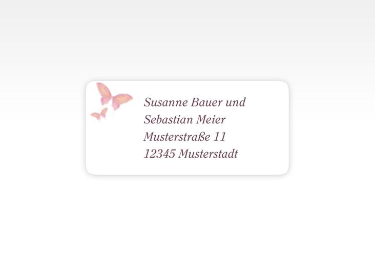 """Absenderetikett Hochzeit """"Toulouse"""" 45,7 x 21,2 mm rosa"""