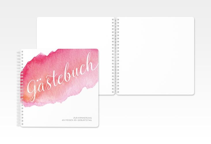 "Gästebuch Geburtstag ""Aquarell"" Ringbindung"