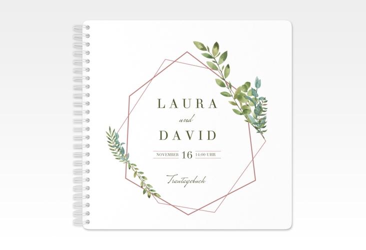 """Trautagebuch Hochzeit """"Herbarium"""" Trautagebuch Hochzeit rosa"""