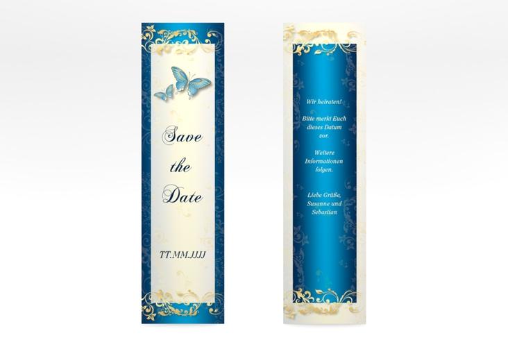 "Save the Date-Lesezeichen ""Toulouse"" Lesezeichen blau"