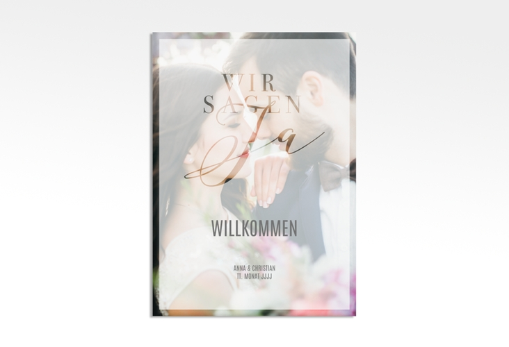 "Willkommensschild Leinwand ""Amazing"" 50 x 70 cm Leinwand"