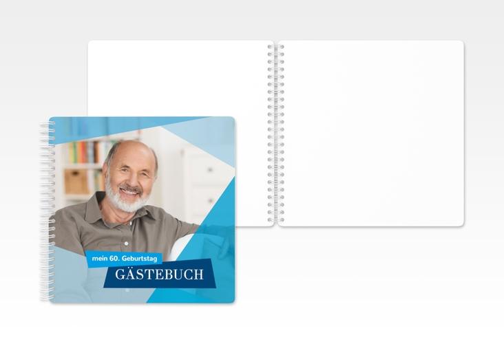 "Gästebuch Geburtstag ""Shapes"" Ringbindung blau"