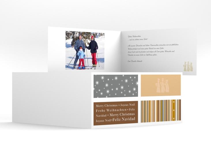 """Weihnachtskarte """"Morgenland"""" DIN lang Klappkarte"""