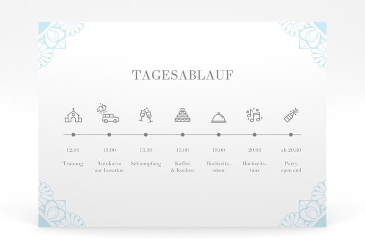 """Tagesablauf Poster Hochzeit """"Nostalgie"""" 70 x 50 cm Poster tuerkis"""