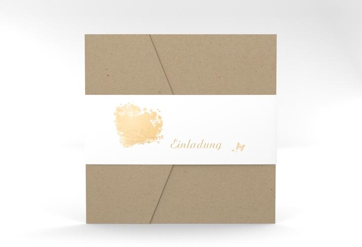 """Hochzeitseinladung """"Mailand"""" Pocketfold beige"""