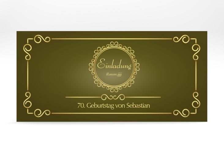 """Einladungskarte """"Bert/Berta"""" DIN lang gruen"""