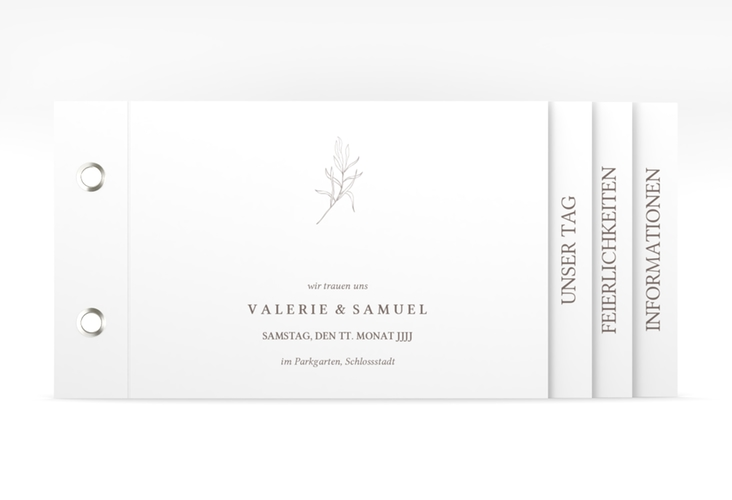 """Hochzeitseinladung """"Ivy"""" Booklet"""