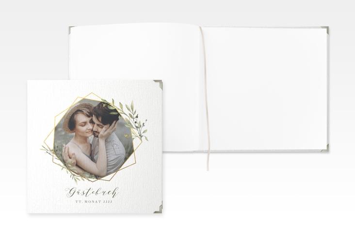 "Gästebuch Selection Hochzeit ""Acacia"" Leinen-Hardcover weiss"