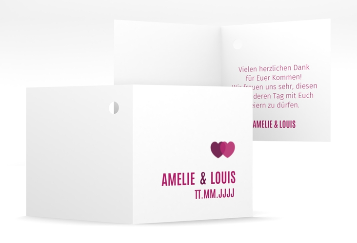 "Geschenkanhänger Hochzeit ""Couple"" Geschenkanhänger 10er Set pink"