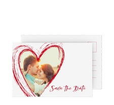 "Save the Date-Postkarte ""Liebe"""