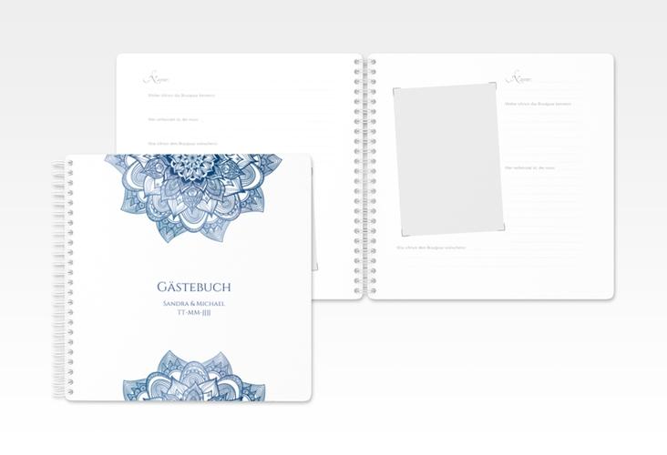"Gästebuch Hochzeit ""Delight"" Ringbindung blau"