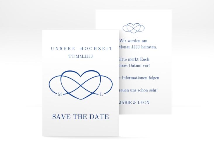 "Save the Date-Visitenkarte ""Infinity"" Visitenkarte"