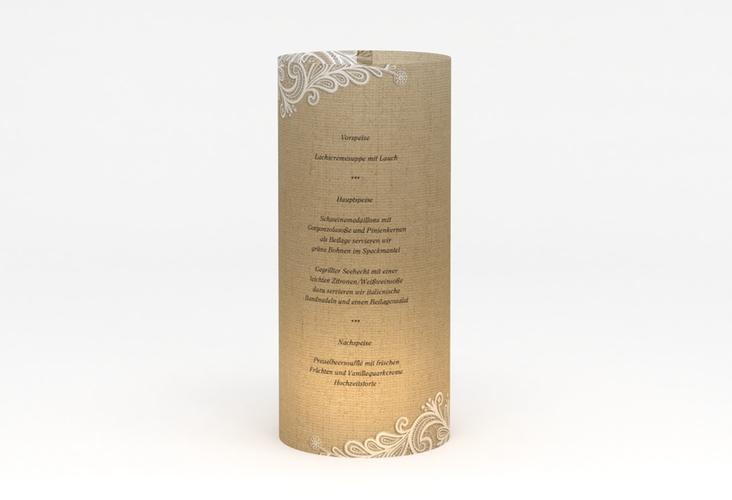 """Windlicht Menü Hochzeit """"Lace"""" Windlicht beige"""