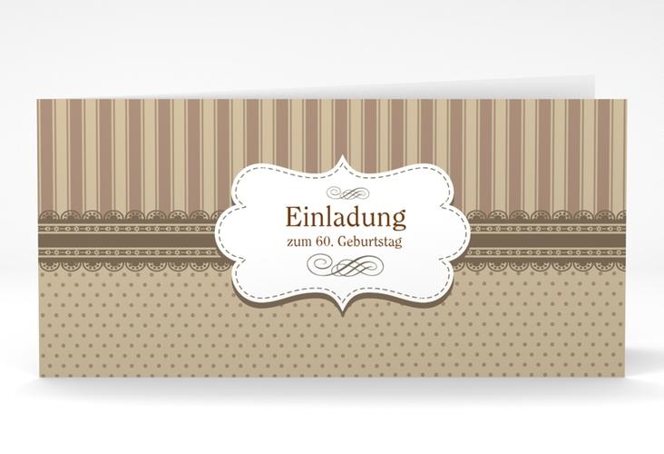 """Einladungskarte """"Heinrich/Henriette"""" DIN lang Klappkarte"""