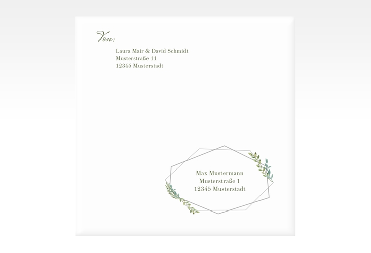"""Kuvert quadratisch """"Herbarium"""" Quadratisch grau"""