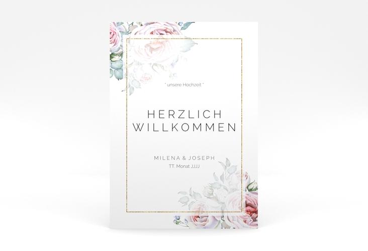 "Willkommensschild Poster ""Embrace"" 50 x 70 cm Poster weiss"