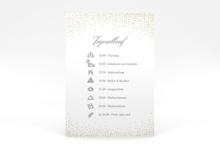 """Tagesablauf Poster Hochzeit """"Glitter"""" 50 x 70 cm Poster weiss"""