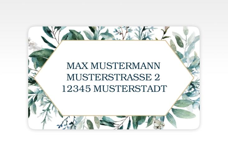 """Empfängeretikett Hochzeit """"Lumiere"""" 63,5 x 38,1 mm weiss"""