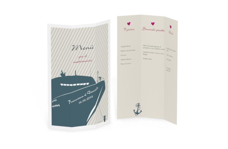 Menù matrimonio collezione Maiorca DIN A4 Wickelfalz