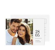 """Antwortkarte Hochzeit """"Minimal"""""""