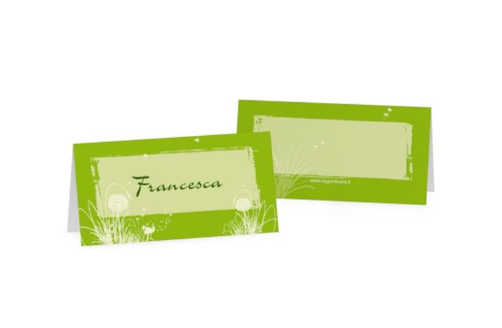 Segnaposti matrimonio collezione Murcia Tischkarten verde