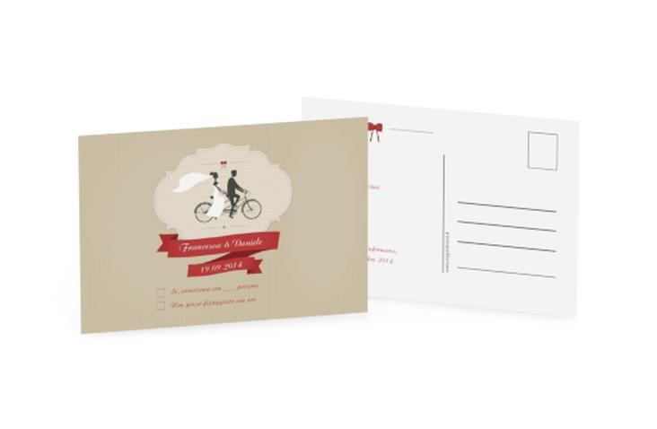 Biglietti risposta matrimonio collezione Asti A6 Postkarte