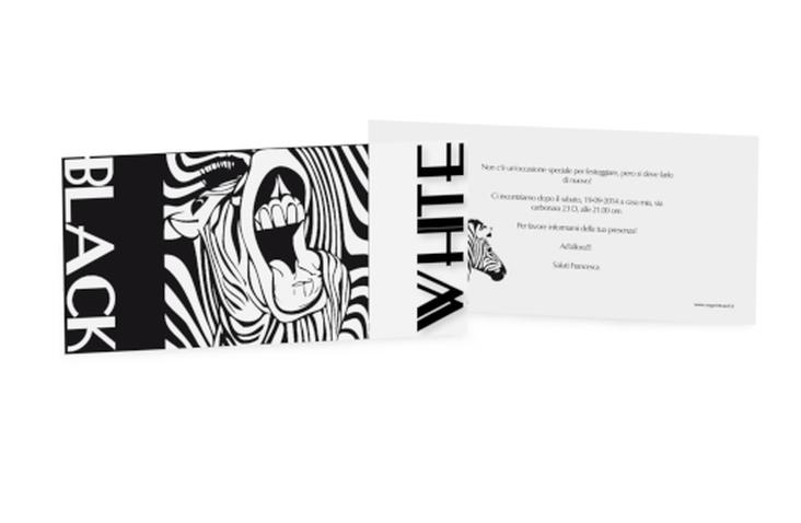 Biglietti di invito black&white DIN lang