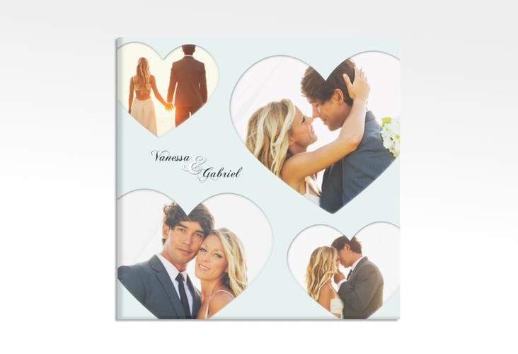 "Hochzeitscollage Leinwand ""Sweetheart"" 30 x 30 cm Leinwand tuerkis"