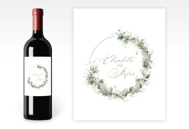 """Weinetikett zur Hochzeit """"Selvatica"""" Etikett Weinflasche 4er Set"""