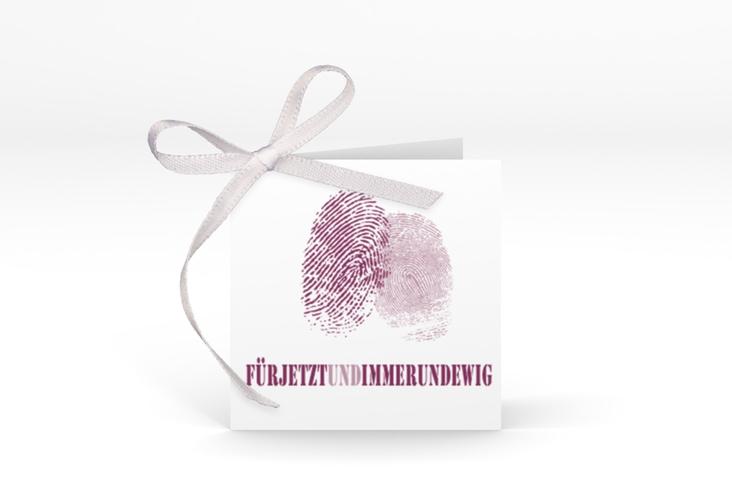 """Geschenkanhänger Hochzeit """"Messina"""" Geschenkanhänger 10er Set lila"""