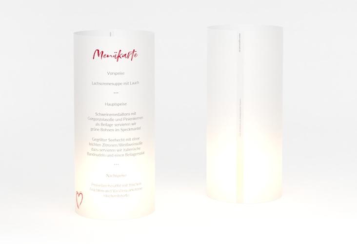 """Windlicht Menü Hochzeit """"Liebe"""" Windlicht rot"""