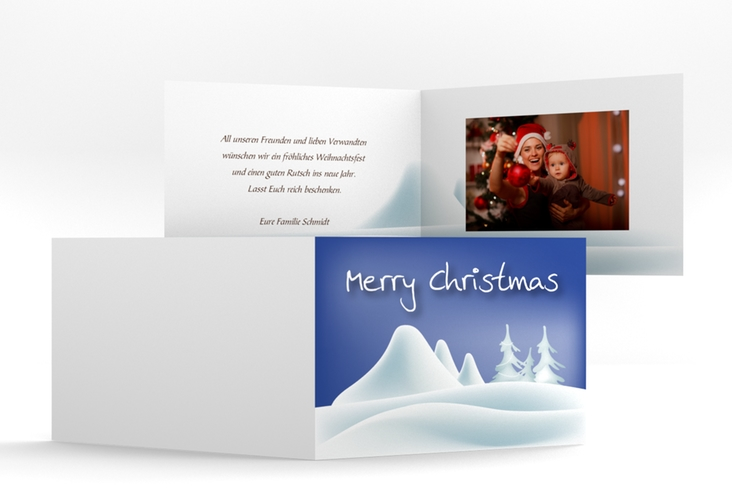 "Weihnachtskarte ""Freeze"" A6 Klappkarte Quer"