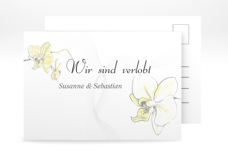 "Verlobungskarte Hochzeit ""Modena"" A6 Postkarte"