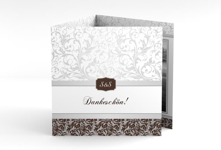 "Dankeskarte Hochzeit ""Latina"" Quadr. Karte doppelt"
