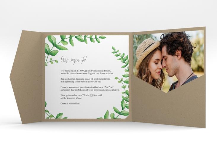 """Hochzeitseinladung """"Botanic"""" Pocketfold"""