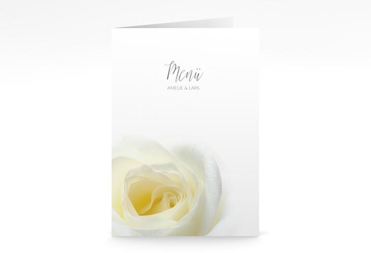"""Menükarte Hochzeit """"Rose"""" DIN A5 geklappt"""