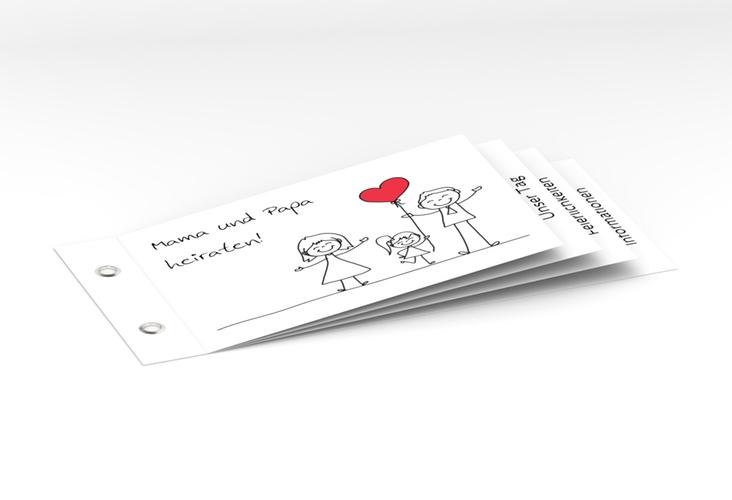 """Hochzeitseinladung """"Familia"""" Booklet weiss"""