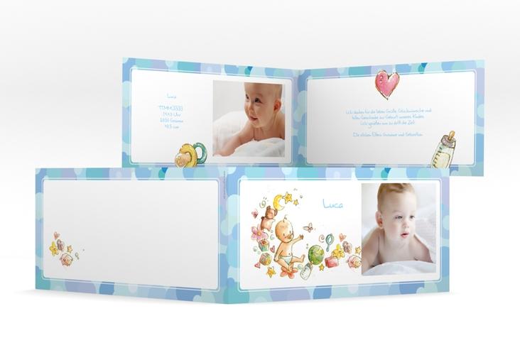 Geburtskarte Bubbles DIN lang Klappkarte