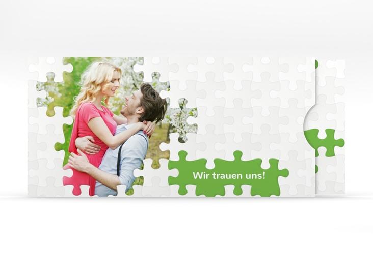 """Hochzeitseinladung """"Puzzle"""" Einsteckkarte"""