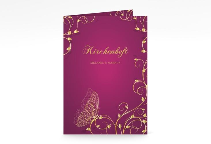"""Kirchenheft Hochzeit """"Eternity"""" DIN A5 geklappt pink"""