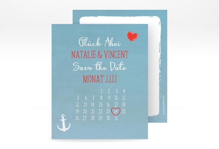 "Save the Date-Kalenderblatt ""Ehehafen"" Kalenderblatt-Karte"