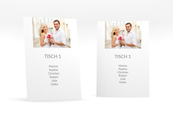 """Tischaufsteller Hochzeit """"Vista"""" Tischaufsteller weiss"""
